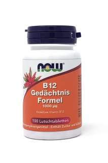 NOW B12 GEHEUGEN FORMULE 1000µg 100 Lutschtabletten (Now B12 Methyl)