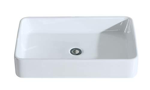 Eridanus serie nevada, lavabo di ceramica bianco lusso lavandino lavello lavamano lavabo da appoggio rettangolare quadrato bacinella lavandino lavello per bagno casa bidet lavabo
