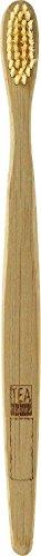 TEA Natura Bambus-Zahnbürste für Erwachsene- Biologisch abbaubar & kompostierbar - Ökologisch nachhaltig - Einfach zu verwenden - Bambus-Nylon-Borsten mittlerer Härte - (Erwachsenen-zahnbürste Nylon)