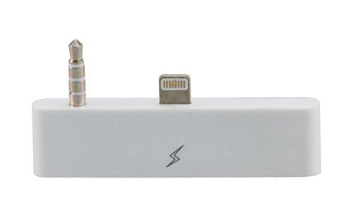 30 zu 8 Pin Audioadapter für das iPhone 6 / 6s zum Verbinden vom alten mit dem neuen iPhone-Anschluss 30 zu 8 mit Audio/ Ideal für Audioübertragung / iOS 11 in weiß von VAPIAO