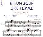 Partition : Et un jour une femme - Piano et paroles