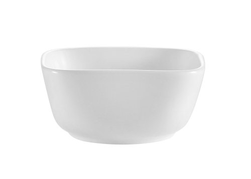 CAC China Porzellanschale, quadratisch, Weiß 4-Inch 6-Ounce Super white; bright white