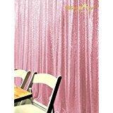 shinybeauty Pailletten backdrop-pink-6ftx7ft, glitzernden Pailletten Drapes, glänzend Stoff Pailletten Platten, Zeremonie Hintergrund (Pink) (Halloween-desserts Zu Machen)
