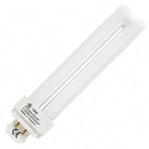 GE Low Energy Lighting 4 Pin Double Tube CFL 18w G24Q-2 Cool White