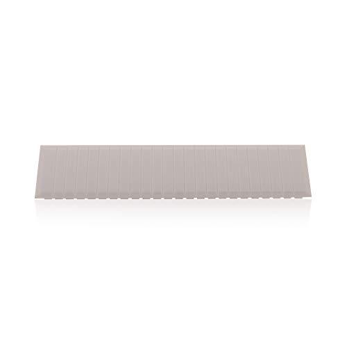 Zubehör Schutzabdeckung Blindabdeckung für 12 Pole in Grau für Sicherungskasten Verteilerkasten (Verteiler Abdeckung)