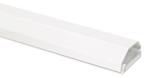 My Wall HZ3-1,1WL Kabelkanal weiß, 2-teilig, 33mm breit, Aluminium