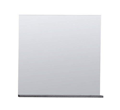 trendteam Badezimmer Wandspiegel California, 60 x 60 x 13 cm in Rauchsilber Dekor mit Ablagefläche
