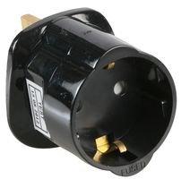 Pro Elec Schuko europäischen Stromversorgung auf UK 3-polig AC Netzteil Travel Besucher Adapter Konverter Power Plug, Schwarz Irland-spannung Konverter