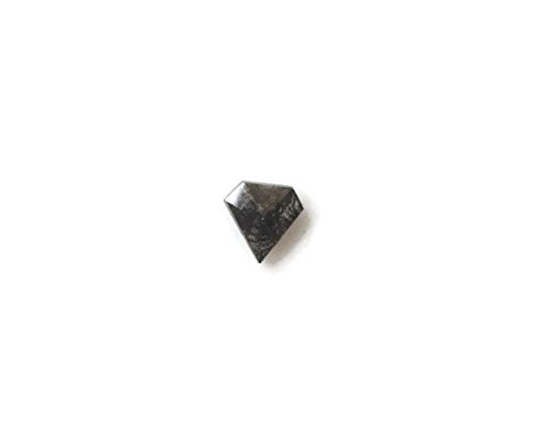 0,25ctw/4,8mm Schild geformte Rose Pfeffer und Salz geschnitten Diamant lose Cabochon, facettierte Diamant Schnitt Rose lose, dds509/2