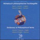 Produkt-Bild: Wörterbuch philosophischer Fachbegriffe. CD- ROM. Deutsch- Englisch / Englisch- Deutsch. Dictionary of Philosophical Terms