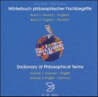 Wörterbuch philosophischer Fachbegriffe. CD- ROM. Deutsch- Englisch / Englisch- Deutsch. Dictionary of Philosophical Terms