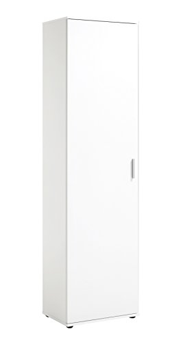 *FMD möbel Jade B01 Mehrzweckschrank 50X34,5X184 H cm, weiß nobilitiert*