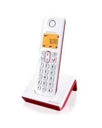 Alcatel S250 Telefon DECT Anrufer-Identifikation Rot, Weiß