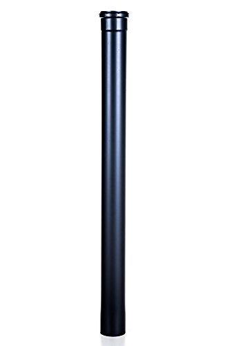 An camini anf04080 - Tubo in acciaio 2 mt, diametro 80 mm per stufa a pellet scarico fumi canna fumaria estrazione fumi
