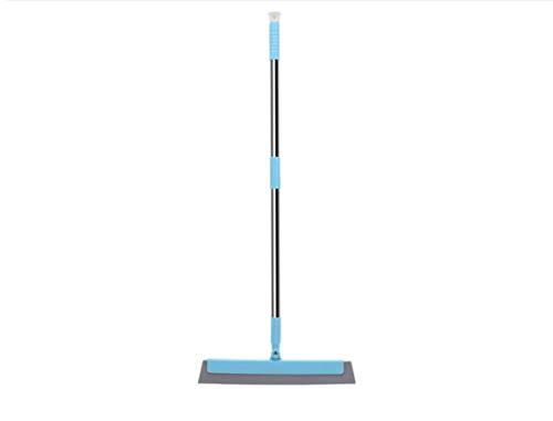 Zhz spazzola magica della scopa senza polvere spazzata bagno spazzata strisce di vetro acqua raschietto tre-in-one scopa magica (colore : blu)