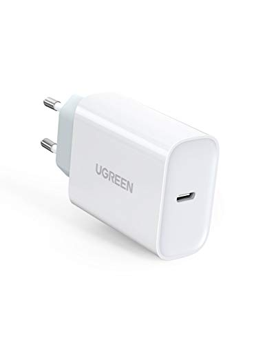 UGREEN PD 30W Caricabatterie USB C Power Delivery, Compatibile con iPad PRO iPad Air 2019 iPhone 11 PRO Max XS Max MacBook, Xiaomi Mi 9 9T PRO Quick Charge 3.0 Caricatore USB C Samsung S10 Huawei P30