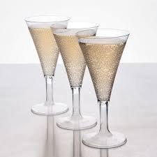Élégant Plastique rigide Mini Coupes de champagne/flûtes - 2.7oz (75ml) - Lot de 8