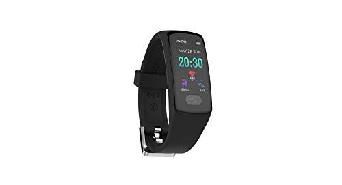 WLLIT Intelligentes Armband,2019 Bildschirm Smart Armband E07 EKG Herzfrequenz Blutdruck Schrittzähler Sport Armband,Telligentes Armband Zum -Blue