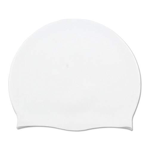 Bademütze Herren Kopf Kappen Sommer Erwachsener Pool Schwimmen Hut Damen buntes dauerhaftes elastisches Silikon für das Surfen am Strand(H,Free)