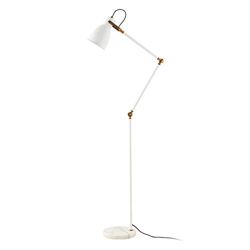 AJIHWDJ Nordic lámpara de pie de madera maciza creativa sala de estar sofá mesa de café lámpara moderna minimalista vertical lámpara de estudio de cabecera de hierro forjado @ A 款 白 白光