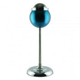Cendrier bleu boule corbeille 15cm pied réglable 60cm telescopique