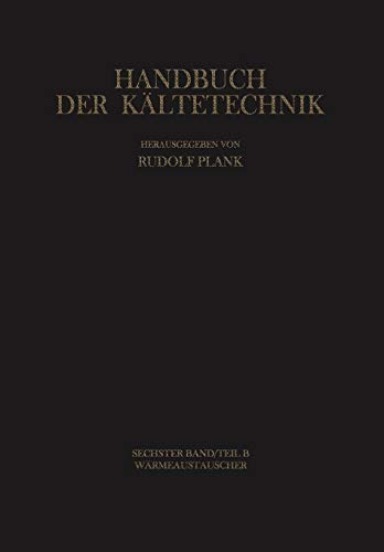 Wärmeaustauscher (Handbuch der Kältetechnik)