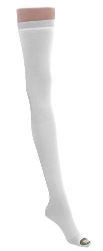 EMS Thigh Length Anti-Embolism Stockings,White,X-Large - 1 PR by Medline