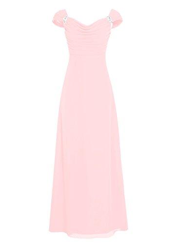 Dresstells, robe longue de demoiselle d'honneur, robe de soirée , robe de cérémonie Rose