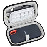 Hard EVA Travel Case for SanDisk Extreme Portable SSD Solid State Drive 250 GB / 500 GB / 1 TB / 2 TB by Hermitshell