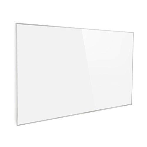 Klarstein Wonderwall 96 Calefactor infrarrojo • Calefactor portátil • Panel de 80 x 120 cm • 960 W • Tecnología de Cristal de Carbono • Programable • Autoapagado • para alérgicos • IP24 • Blanco