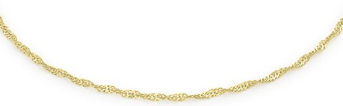Carissima Gold 9ct Yellow Gold Twist Curb Anklet 23cm/9 VZTL7s