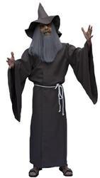 Magier Kostüm + Hut Gr. 54 Zauberer Hexer Karneval Halloween Herrenkostüm (Der Hobbit Erwachsenen Gandalf Hut)