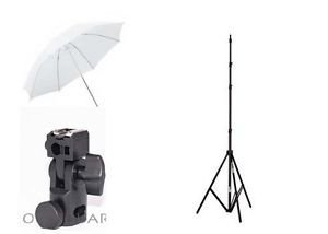 Hanumex Photo Small Studio Home Umbrella Light Setup with Bracket and Stand – Set of 3