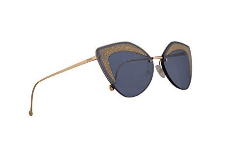 Fendi FF0355/S Sonnenbrille Blau Mit Blauen Gläsern 66mm ZI9KU FF0355S FF 0355/S