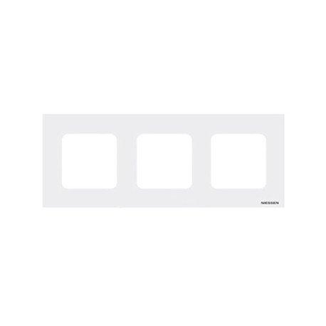 Niessen - n2273bl marco estandar 3 ventanas zenit blanco Ref. 6522005253