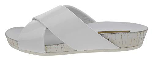 Buffalo London Charol 6250 Lackleder Pantolette weiß, Groesse:36.0