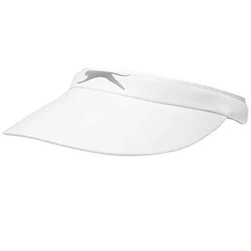 Slazenger Damen Clip Visor Golf Sonnenblende Logo Weiß Damen