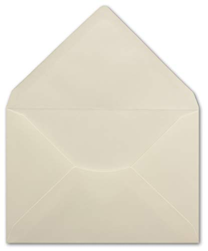 75 DIN C6 Briefumschläge Creme - 11,4 x 16,2 cm - 100 g/m² Nassklebung spitze Klappe - aus der Serie Colours-4-you - Glüxx-Agent