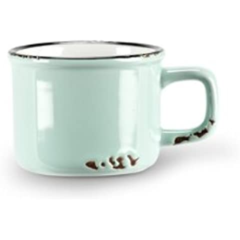 Set 6Pezzi Baby Blue in gres enamel-look Vintage Demitasse Espresso Cups
