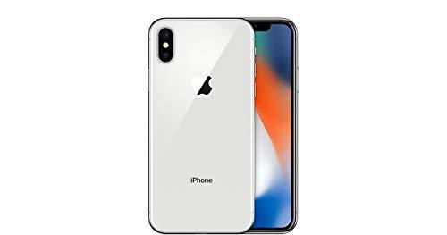 "Apple iPhone X, 5,8"" Display, Sim-Free, 256 GB, 2017, Silber (Generalüberholt)"