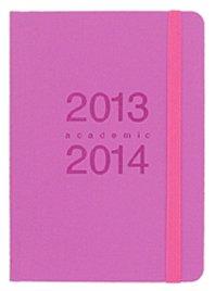 Agenda Letts Memo jour par page 2013-2014 rose format A6