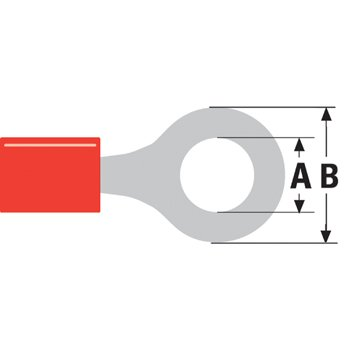 Ex-Pro ® 100x rosso anello lingua spade crimpare connettori per cablaggi elettrici (Cablaggi Elettrici Connettore)