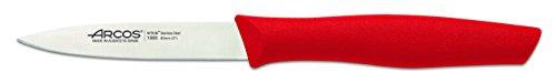 Arcos 188 Cuchillo mondador, Acero/plástico, Rojo, 20x2x2 cm