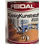 Feidal Flüssigkunststoff, zum Versiegeln und Beschichten von Betonböden, Farbton: Steingrau RAL 7016/5 Liter