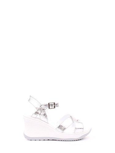 Agile by Rucoline Sandalo con Zeppa Media Alta con Cinturino Vesuvio Art. 1871 82644 1871 A Argento Scarpe Donna Nuova Collezione Primavera Estate 2020