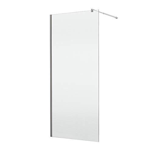 duschtrennwand eckeinstieg Home Deluxe Duschtrennwand Navaa | Klarglas | 6mm Glasstärke | Verschiedene Größen | 1200 x 1900 mm
