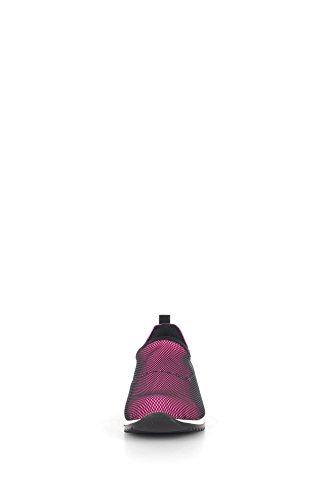 CULT - Scarpa ginnica fucsia e nera, in tessuto e pelle, con inserto metallico posteriore, Bambina, Ragazza Cream Slip