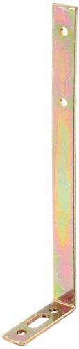 GAH-Alberts 334000 Gardinenwinkel mit Langloch, galvanisch gelb verzinkt - 55 x 180 x 17 mm / 20 Stück