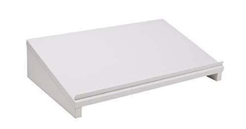 Herme24 Vorlagenhalter Laptopständer Lapdesk (VDL60W) B/T/H 50 x 30 x 12 cm Laptoptisch Weiß Matt