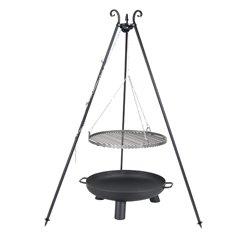 Dreibein Grill VIKING Höhe 180cm + Grillrost aus Rohstahl Durchmesser 50cm + Feuerschale Pan37 Durchmesser 60cm - Viking Outdoor-grills